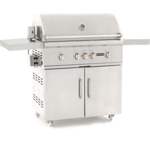 Coyote S-Series 36-Inch 4-Burner Natural Gas Grill With RapidSear Infrared Burner & Rotisserie - C2SL36NG + C1S36CT