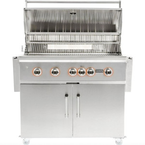 Coyote S-Series 42-Inch 5-Burner Propane Gas Grill With RapidSear Infrared Burner & Rotisserie - C2SL42LP + C1S42CT
