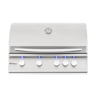 Summerset Sizzler Pro 32-Inch 4-Burner Built-In Natural Gas Grill With Rear Infrared Burner - SIZPRO32-NG