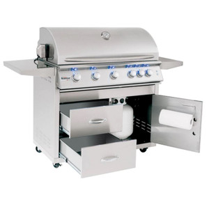 Summerset Sizzler Pro 40-Inch 5-Burner Propane Gas Grill With Rear Infrared Burner - SIZPRO40-LP