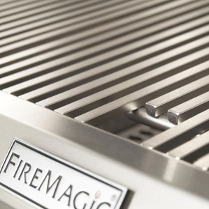 Fire Magic Choice C430S 24-Inch Propane Gas Grill With Analog Thermometer On In-Ground Post - C430S-RT1P-G6