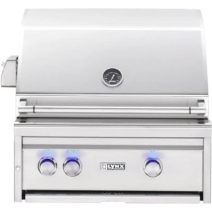 Lynx Professional 27-Inch Built-In Propane Gas Grill With One Infrared Trident Burner And Rotisserie - L27TR-LP