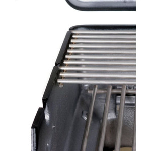 PGS A40 Cast Aluminum Natural Gas Grill On Stainless Steel Patio Base