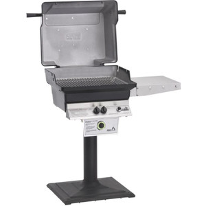 PGS T-Series T30 Commercial Cast Aluminum Propane Gas Grill With Timer On Bolt-Down Patio Post