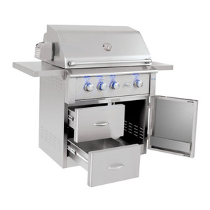 Summerset Alturi 36-Inch 3-Burner Natural Gas Grill With Stainless Steel Burners & Rotisserie - ALT36T-NG