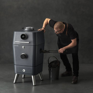 Everdure By Heston Blumenthal 4K 21-Inch Charcoal Grill & Smoker - Graphite - HBCE4KGUS