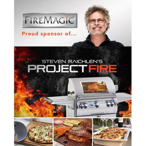Fire Magic Legacy 30-Inch Built-In Smoker Charcoal Grill - 14-SC01C-A