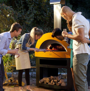 Alfa Allegro 39-Inch Outdoor Wood-Fired Pizza Oven - Yellow - FXALLE-LGIA