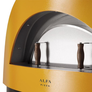 Alfa Allegro 39-Inch Outdoor Countertop Wood-Fired Pizza Oven - Yellow - FXALLE-LGIA-T