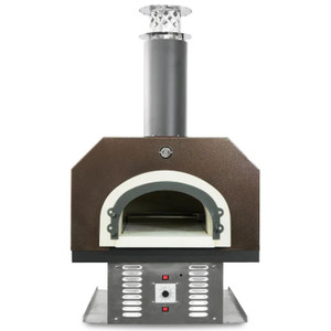 Chicago Brick Oven CBO-750 Built-In Countertop Hybrid Residential Outdoor Pizza Oven - Natural Gas - Copper - CBO-O-CT-750-HYB-NG-CV-R-3K