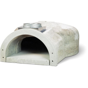 Chicago Brick Oven CBO-750 Built-In Countertop Hybrid Residential Outdoor Pizza Oven - Natural Gas - Silver - CBO-O-CT-750-HYB-NG-SV-R-3K