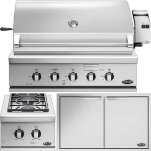 DCS 3-Piece Series 7 36-Inch Natural Gas Outdoor Kitchen Package