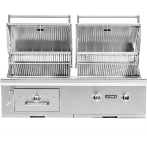 Coyote Centaur 50-Inch Built-In Natural Gas/Charcoal Dual Fuel Grill - C1HY50NG