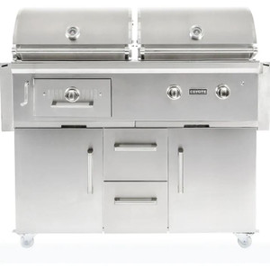 Coyote Centaur 50-Inch Natural Gas/Charcoal Dual Fuel Grill - C1HY50NG