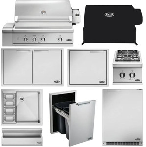 DCS 10-Piece Series 9 36-Inch Natural Gas Outdoor Kitchen Package