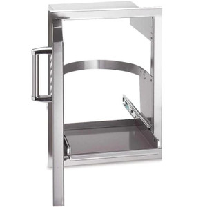 Fire Magic Premium Flush 14-Inch Left-Hinged Soft Close Louvered Single Access Door With Propane Tank Storage - 53820SC-TL