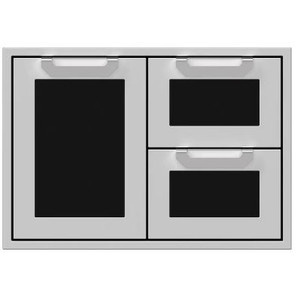 Hestan 30-Inch Double Drawer And Single Storage Door Combo - Stealth - AGSDR30-BK