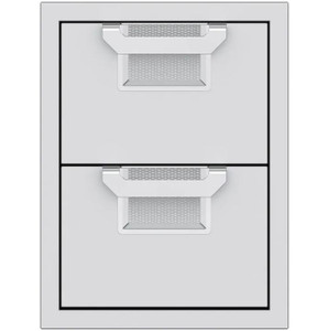 Aspire By Hestan 16-Inch Double Storage Drawers - Steeletto - AEDR16-SS