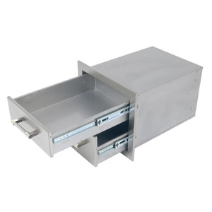 Alfresco 17-Inch Stainless Steel Soft-Close Double Drawer - AXE-2DR-SC