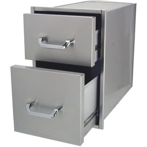 Solaire 14 Inch Double Access Drawer - SOL-2D14S
