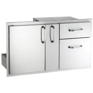 Fire Magic Select 36-Inch Access Door With Platter Storage And Double Drawer - 33816S