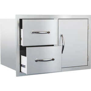 Summerset 30-Inch Stainless Steel Flush Mount Access Door & Double Drawer Combo - SSDC-1