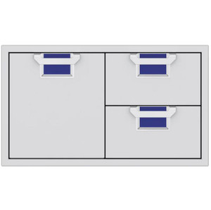 Aspire By Hestan 36-Inch Double Drawer And Single Storage Door Combo - Prince - AESDR36-BU