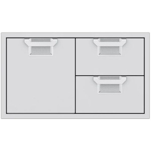 Aspire By Hestan 36-Inch Double Drawer And Single Storage Door Combo - Steeletto - AESDR36-SS