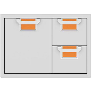Aspire By Hestan 30-Inch Double Drawer And Single Storage Door Combo - Citra - AESDR30-OR