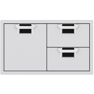 Aspire By Hestan 36-Inch Double Drawer And Single Storage Door Combo - Stealth - AESDR36-BK