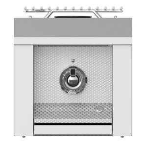 Aspire By Hestan Built-In Natural Gas Single Side Burner - Steeletto - AEB121-NG-SS