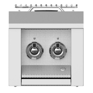 Aspire By Hestan Built-In Natural Gas Double Side Burner - Steeletto - AEB122-NG-SS