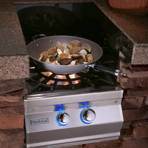 Fire Magic Aurora Built-In Propane Gas Power Burner W/ Porcelain Coated Cast Iron Grid - 19-7B2P-0