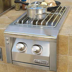 Alfresco Built-In Natural Gas Double Side Burner - AXESB-2-NG