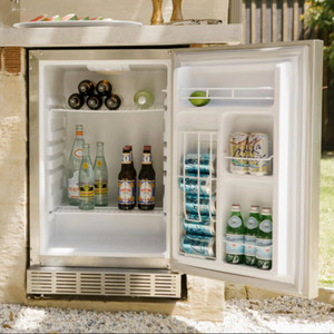 Coyote 21-Inch 4.1 Cu. Ft. Left Hinge Outdoor Rated Compact Refrigerator - CBIL