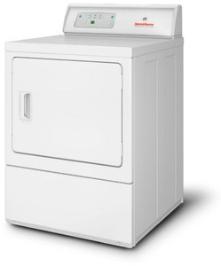 Speed Queen LDGE7RGS113TW01 27 Inch Commercial Gas Dryer with Moisture Sensing Technology, Mechanical Homestyle Control, Large Door Opening, Reversible Door, Upfront Lint Filter, 220 CFM Exhaust Blower and 7.0 cu. ft. Capacity