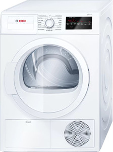 Bosch 300 Series WTG86403UC 24 Inch Compact Condensation Electric Dryer with 4.0 Cu. Ft. Capacity, 15 Drying Cycles, 6 Options, Extra-Fine Lint Filter, ActiveDry® System, Sensitive Drying System, Anti-Vibration, Child Lock, and ENERGY STAR® Certified
