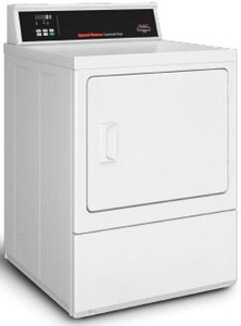 Speed Queen SDENCRGS176TW01 27 Inch Commercial Electric Dryer with 7 Cu. Ft. Capacity, Quantum Gold Pro Control, Largest Door Opening, Reversible Door, Upfront Lint Filter, Durable Galvanized Steel Cylinder, 5 Dry Cycles, and cULus