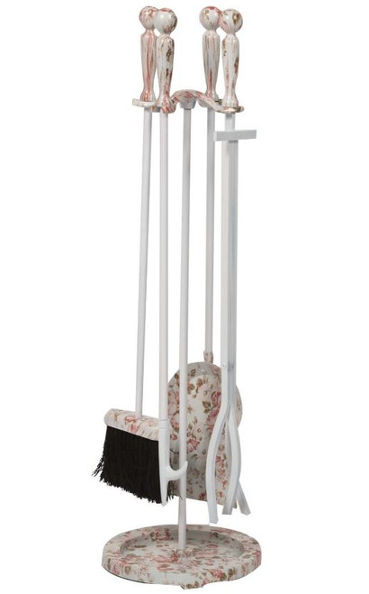 Dagan DG-5818FL Five Piece Fireplace Tool Set, Floral