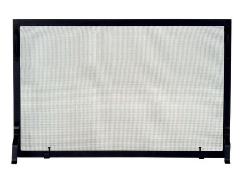 Dagan DG-S129-2 Black Wrought Iron Fireplace Screen, 44x25-Inches