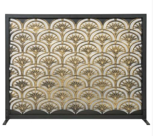 Dagan DG-AHS400 Fireplace Screen with Fan Design, 44x33-Inches