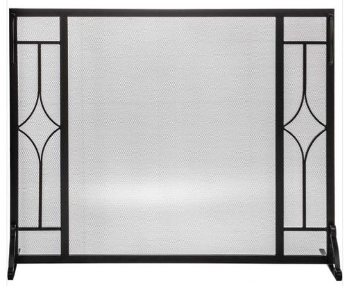 Dagan DG-S170 Fireplace Screen with Diamond Design, 39.5x31-Inches
