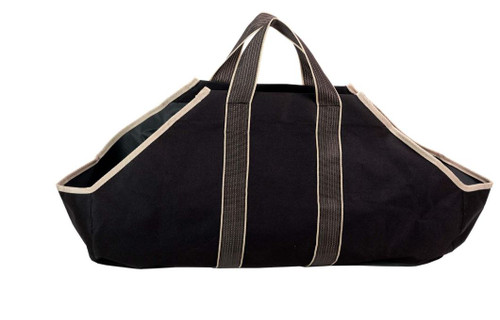 Dagan DG-LC4000 Black and Tan Canvas Log Carrier with Handles, 36.5x9-Inches