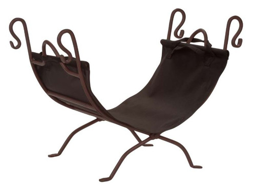Dagan DG-LC870 Bronze and Black Wrought Iron Log Holder, 26.75x14-Inches