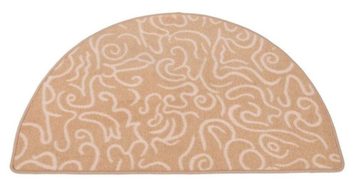 Dagan DG-HR101 Half Round Beige and White Hearth Rug, 43x26-Inches