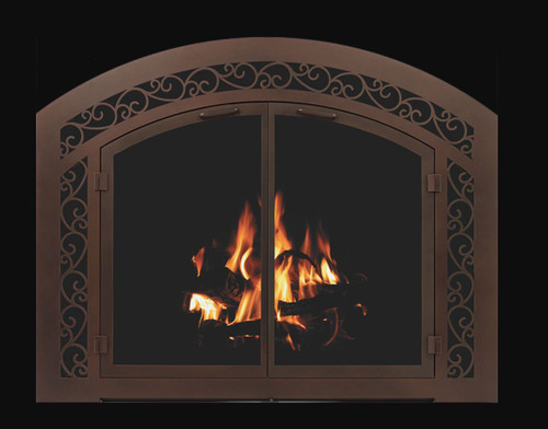 Inset - Arch Shown w/ sidelight & transom in oil rubbed bronze Masonry