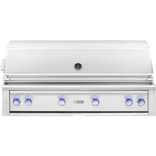 Lynx Professional 54-Inch Built-In Natural Gas Grill With One Infrared Trident Burner And Rotisserie - L54TR-NG
