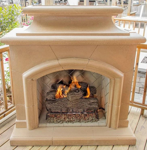 American Fyre Designs Mariposa 63-Inch Outdoor Natural Gas Vent-Free Fireplace - Sedona