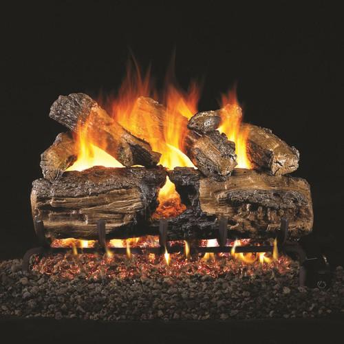 Copy of Peterson Real Fyre 24-Inch Burnt Split Oak Gas Log Set With Vented Natural Gas G4 Burner - Match Light