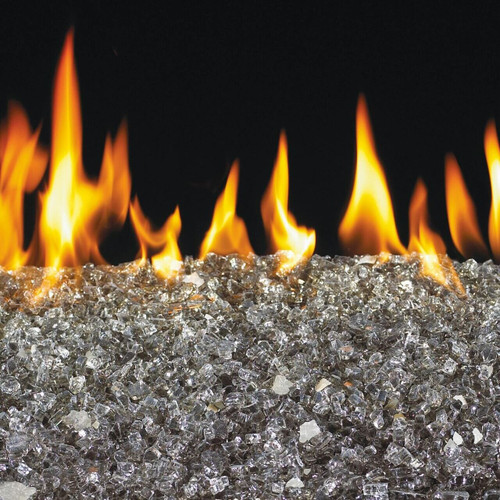Peterson Real Fyre 24-Inch Bronze Fire Glass Set With Vented Natural Gas G45 Burner - Match Light
